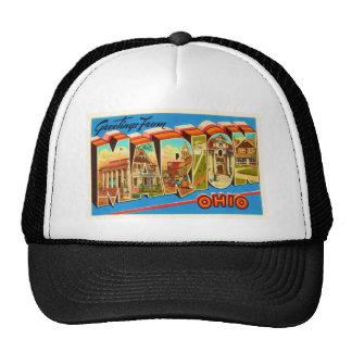 Marion Ohio OH Old Vintage Travel Souvenir Trucker Hat