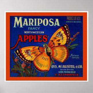 Mariposa Apples Poster