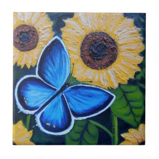 Mariposa Azul Tile