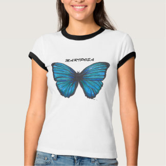 Mariposa, Blue Butterfly T-shirt