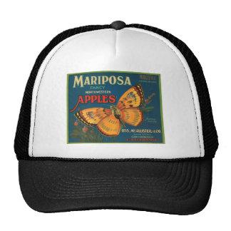 Mariposa Butterfly Apples Fruit Crate Label Trucker Hat