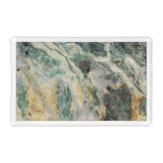 Mariposite Mineral Pattern Acrylic Tray