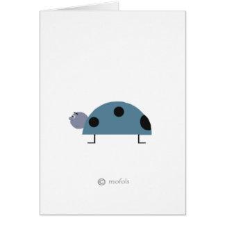 Mariquita azul greeting card