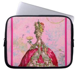 Maris Antoinette & Peacock in Pink Computer Sleeve