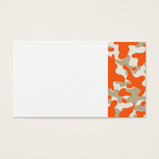 marisaL-camo013 ORANGE TAN BEIGE CAMOUFLAGE PATTER Business Card