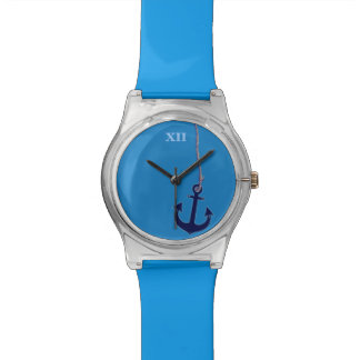 maritime blue ship's anchor watch