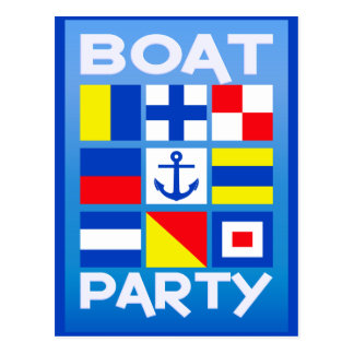 Maritime Boat Party postcard