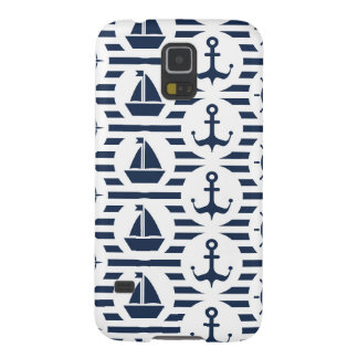 Maritime In Blue Pattern Galaxy S5 Case