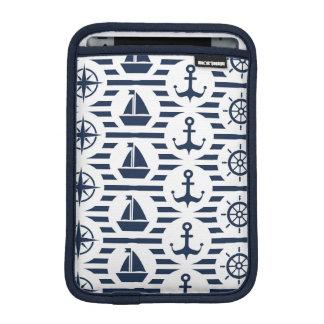Maritime In Blue Pattern iPad Mini Sleeves