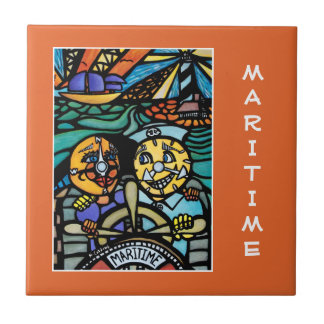 Maritime - Orange  - Time Pieces Tile