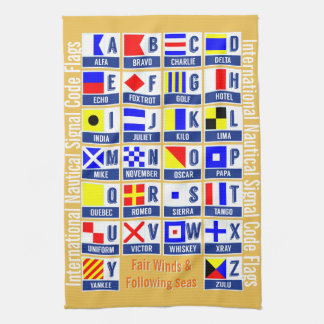 Maritime Signal Code Flags Kitchen Towel