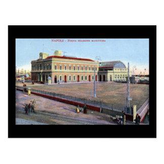 Maritime Station, Napoli Italy 1910 Vintage Postcard