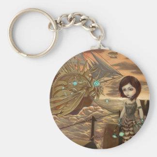 """Maritime Sunset"" Keychain"