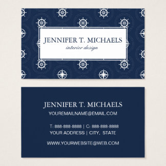 Maritime Tool Pattern Business Card