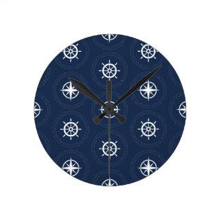 Maritime Tool Pattern Clocks