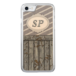 Maritime Wall - Grey Carved iPhone 7 Case
