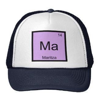 Maritza Name Chemistry Element Periodic Table Trucker Hat