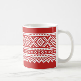 Mariusgenser Christmas Sweater Pattern Coffee Mug