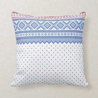Mariusgenser Christmas Sweater Pattern Throw Pillow