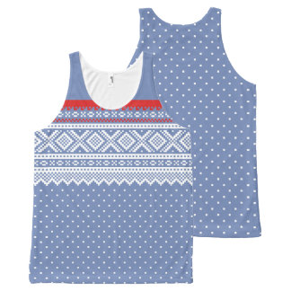Mariusgenser  Sweater Pattern All-Over-Print Tank Top