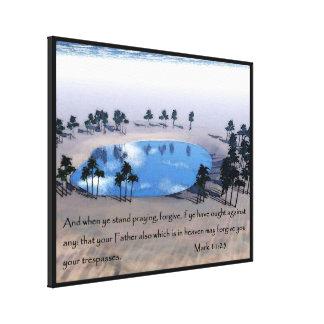Mark 11:25 canvas print
