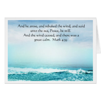 Mark 4:39  Jesus Calms the Storm Greeting  Card
