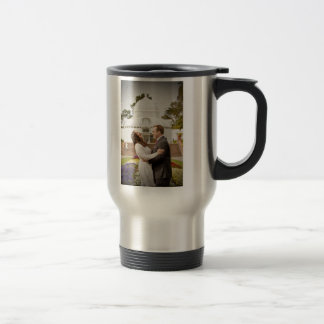 Mark & Iliana's wedding travel mug