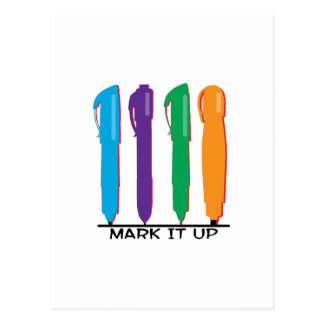 Mark It Up Postcard