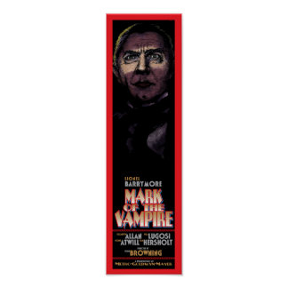 MARK OF THE VAMPIRE - CLASSIC MOVIE POSTER