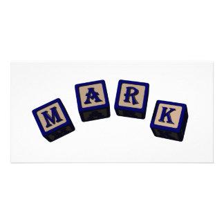 mark photo card template