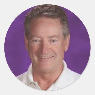 Mark Smith Purple Classic Round Sticker