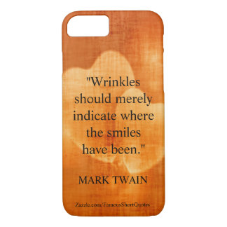 Mark Twain Birthday Quote With Hearts Case-Mate iPhone Case