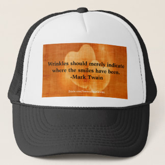 Mark Twain Birthday Quote With Hearts Trucker Hat