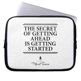 Mark Twain inspirational quote - get it started Laptop Sleeve