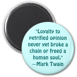 Mark Twain Petrified Opinion Quote Magnet