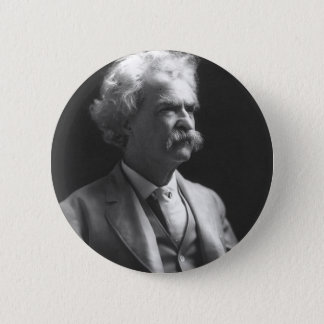 mark twain photo 2 inch round button