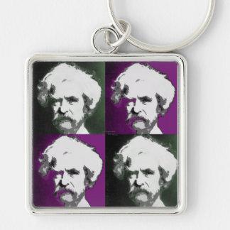 Mark Twain Pop Art keychain