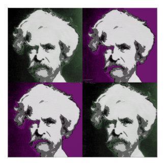 Mark Twain Pop Art Print