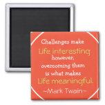 Mark Twain Quotation - Inspirational Gift Magnets