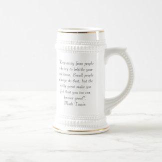 Mark Twain Quote Beer Stein