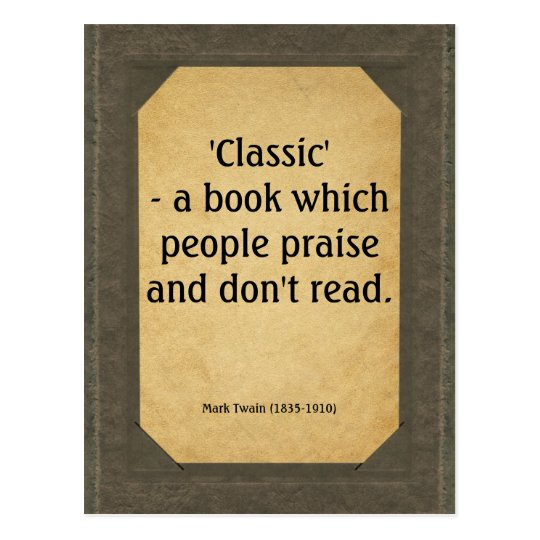 Mark Twain quote on books Postcard