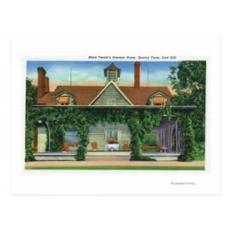 Mark Twain's Summer Home, Quarry Farm Postcard