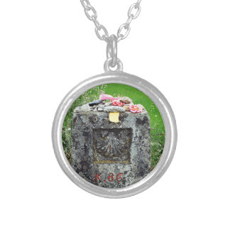 Marker 86 kilometres, El Camino, Spain Silver Plated Necklace