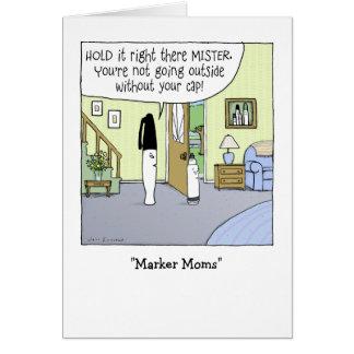 """Marker Moms"" Card"