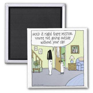 """Marker Moms"" Funny Cartoon Square Magnet"