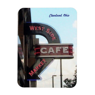 Market Cafe Sign Cleveland Ohio Magnet