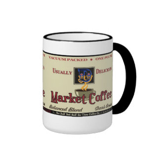 Market Coffee Brand Nostalgia Ringer Mug