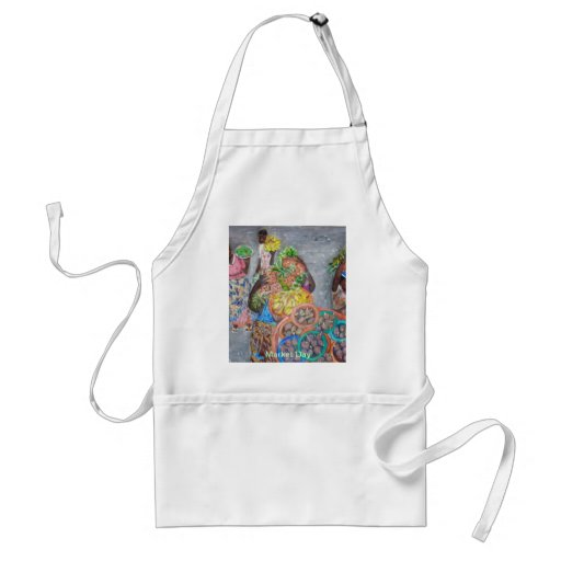 Market Day Painting -  Apron