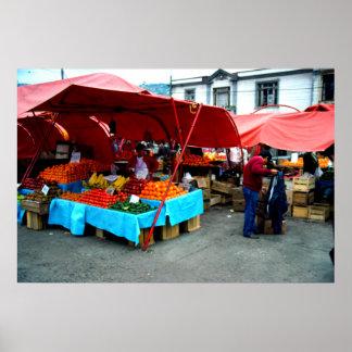 Market day, Valparaiso, Chile Poster