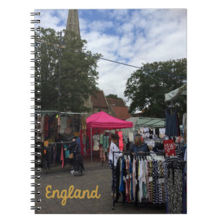 Market England Spiral Notebook